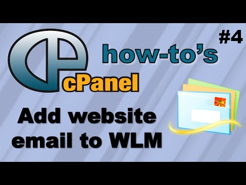 How to add your website email account to Windows Live Mail using cPanel
