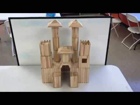 How to Build a Popsicle Stick Castle and Roller Coaster