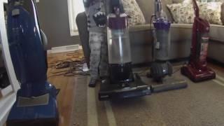 Vacuum Challenge - Santa makes a mess - Bissell vs Dyson vs Miele vs Dirt Devil