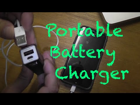 How to use a portable battery charger