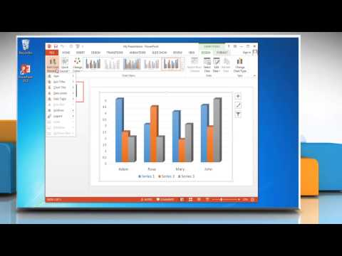 How to change the design & format of graphs in PowerPoint 2013