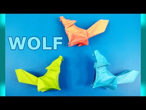 How to Make Origami Paper Wolf  - Paper Crafts - Makeators #44
