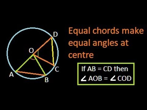 Two equal chords subtend equal angles at the centre | Proof | IBPS | Bank PO | SSC
