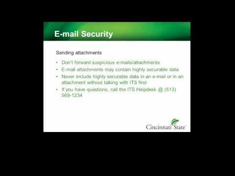 Information Security Awareness - Email Security