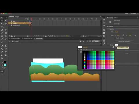 Animating a Background Loop Adobe Animate CC