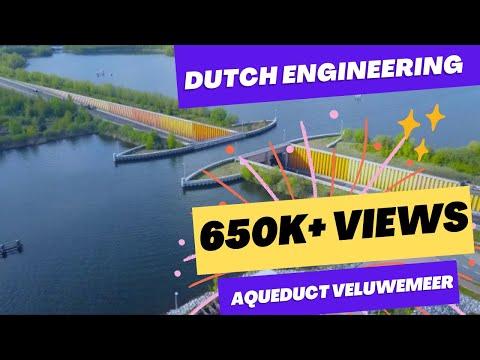 Wondrous Veluwemeer Aqueduct Water Bridge, Holland.