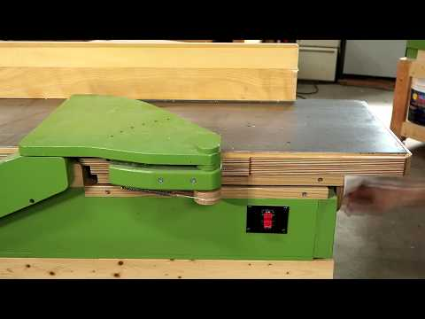 Why I used a parallelogram mechanism for the jointer infeed table