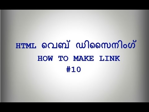 Web Designing HTML Make Link, A Tag And Attributes #10