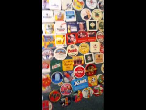 My beverage coaster collection