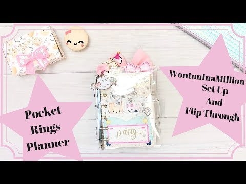 Pocket Rings Planner Set Up Using Wontoninamillion Papers and Stickers DIY