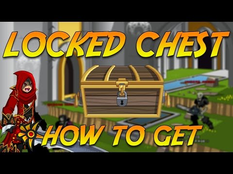 How to Get Locked Chest NEW RARE ITEM!!! (LAPD) AQW