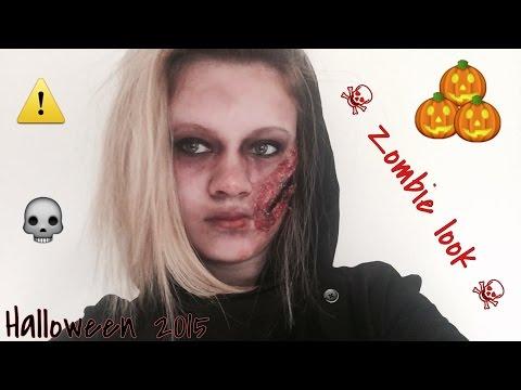 Last minute zombie makeup for Halloween 💀