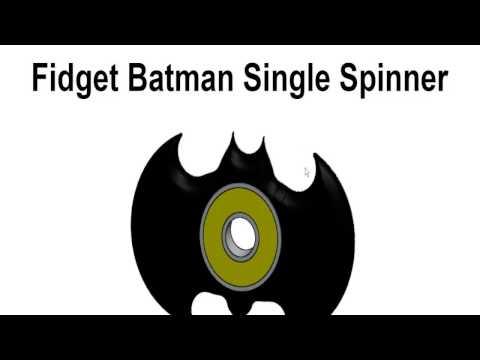 How to Make Fidget Batman Single Spinner
