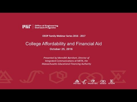 College Affordability and Financial Aid