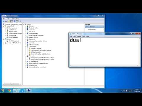 where to check dual or quad core in windows os