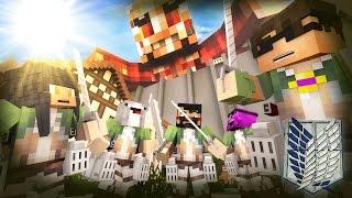 Minecraft ATTACK ON TITAN HIDE N SEEK!! /w Facecam