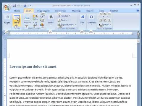 How to View the Shortcut Keys in Word