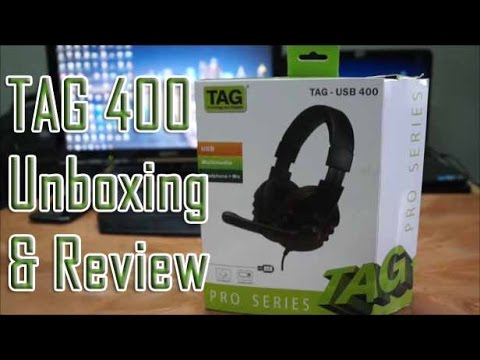 TAG 400 Headset Unboxing and Review.