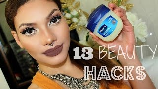 13 BEAUTY HACKS With Vaseline!!  MUST KNOW!