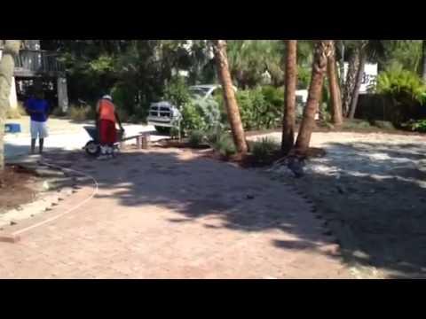 Brick Paver Installation - Driveway and Patio - In-Progress