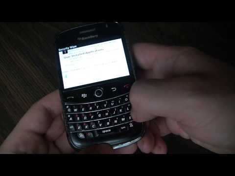 How To Restore A Blackberry Bold To Factory Settings