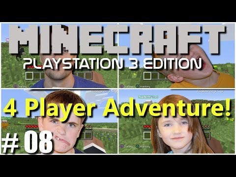 Minecraft PS3 Edition: 4 Player Adventure - #8 To Many Mobsl!!(Family Multiplayer)