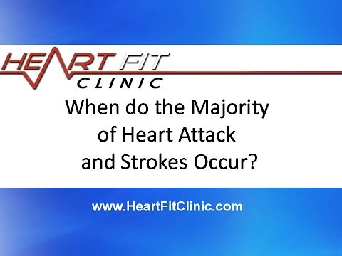 When do the Majority of Heart Attack and Strokes Occur?