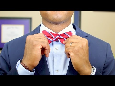 How to Tie a Bow Tie   Quick and Easy Tutorial