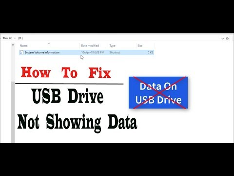 USB Drive Folders Not Showing | Pen Drive Show Empty Even When Data Exists | Resolved