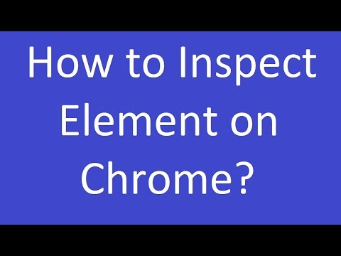 How to Inspect Element on Chrome?