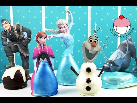 FROZEN CAKE POPS! All the Disney FROZEN Characters.. As Cake! A Cupcake Addiction How To Tutorial