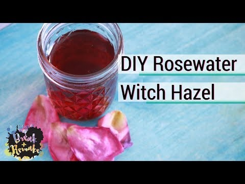 DIY Rosewater Witch Hazel - great face toner - from frozen rose petals