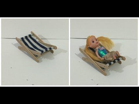 How to build Miniature Beach Chair -  Doll Tutorial