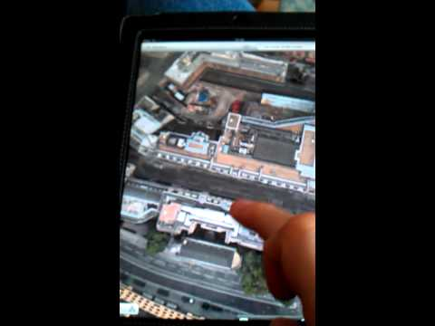 3D satellite view of City if London on iPad maps