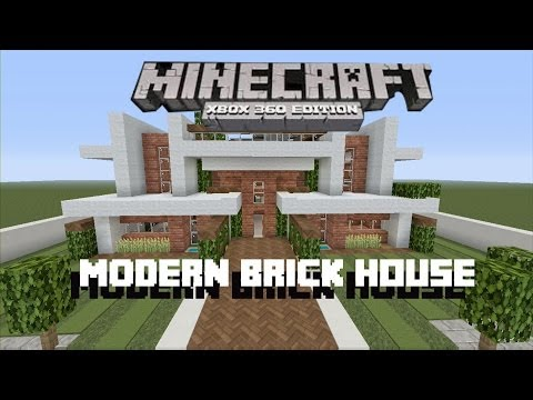 Minecraft Xbox 360 - How to Build a Modern Brick House!