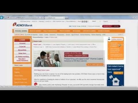IN-How to generate IT Certificate Home Loan Statement and  from ICICI Bank website
