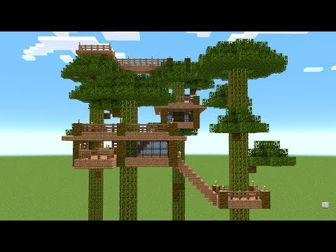 Minecraft - How to build a tree house