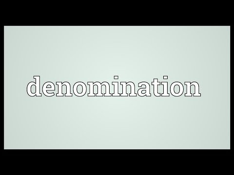 Denomination Meaning