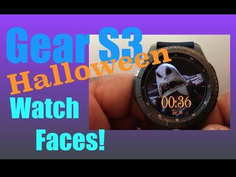 5 Great Gear S3 Halloween Watch Faces 2018!