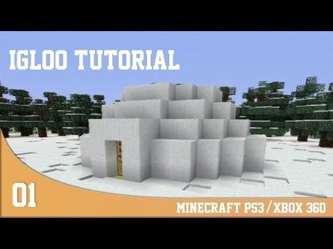 Build Ideas Minecraft PS3/Xbox 360 - Igloo Tutorial