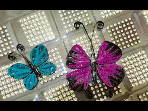 Quilled Butterfly - 2 Easy Ways #12