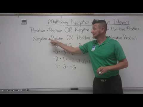 Multiplying Negative & Positive  Integers
