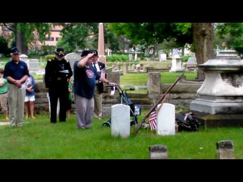 Civil War Headstones Dedication - Pine Ridge Cemetery, Bay City, MI