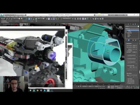 Lego Batman 2017 - Batmobile Modeling Tutorial - Part 17