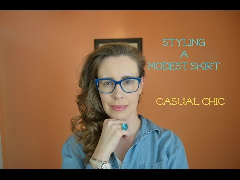 Styling A Modest Skirt: Casual Chic