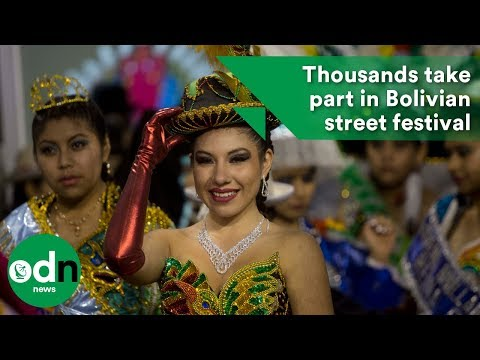 Thousands take part in Bolivian street festival