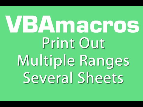 Print Out Multiple Ranges Several Sheets- VBA Macros - Tutorial - MS Excel 2007