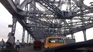 Howrah Bridge from a Yellow Taxi