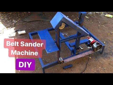 How to make belt sander machine   DIY