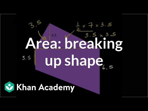 Finding area by breaking up the shape | Geometry | 6th grade | Khan Academy